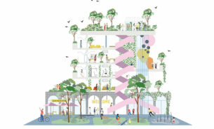 The healthy building as key contributor to a healthy city, Illustration by Sweco.